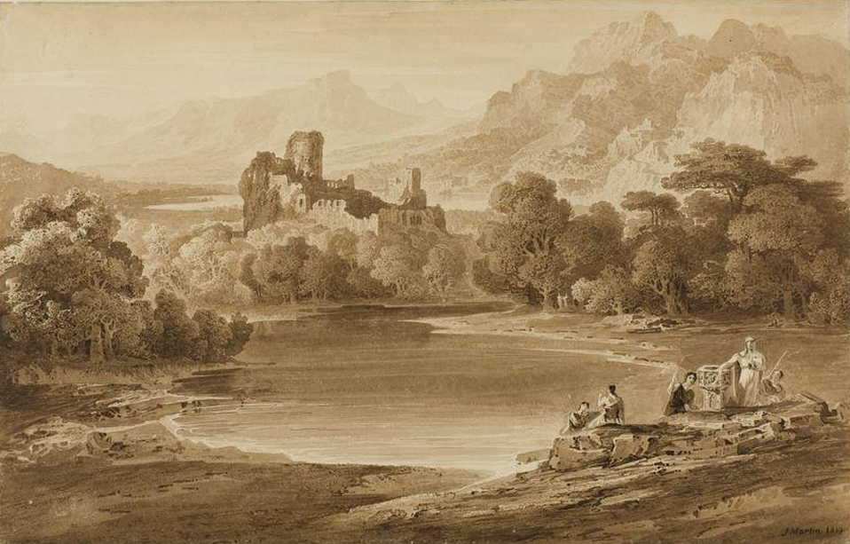 Landscape with a ruines castle