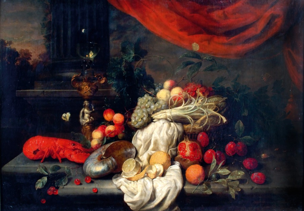Van Son - Nature morte d'apparat à la colonne, vers 1662