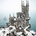 Chateaux sous la neige