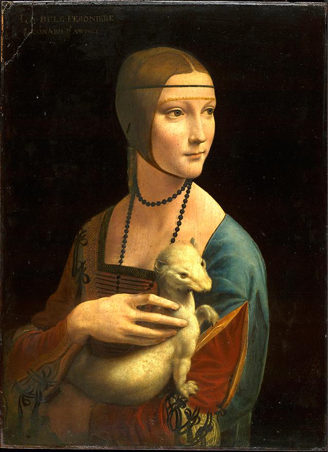 Lady with an Ermine - Leonard de Vinci